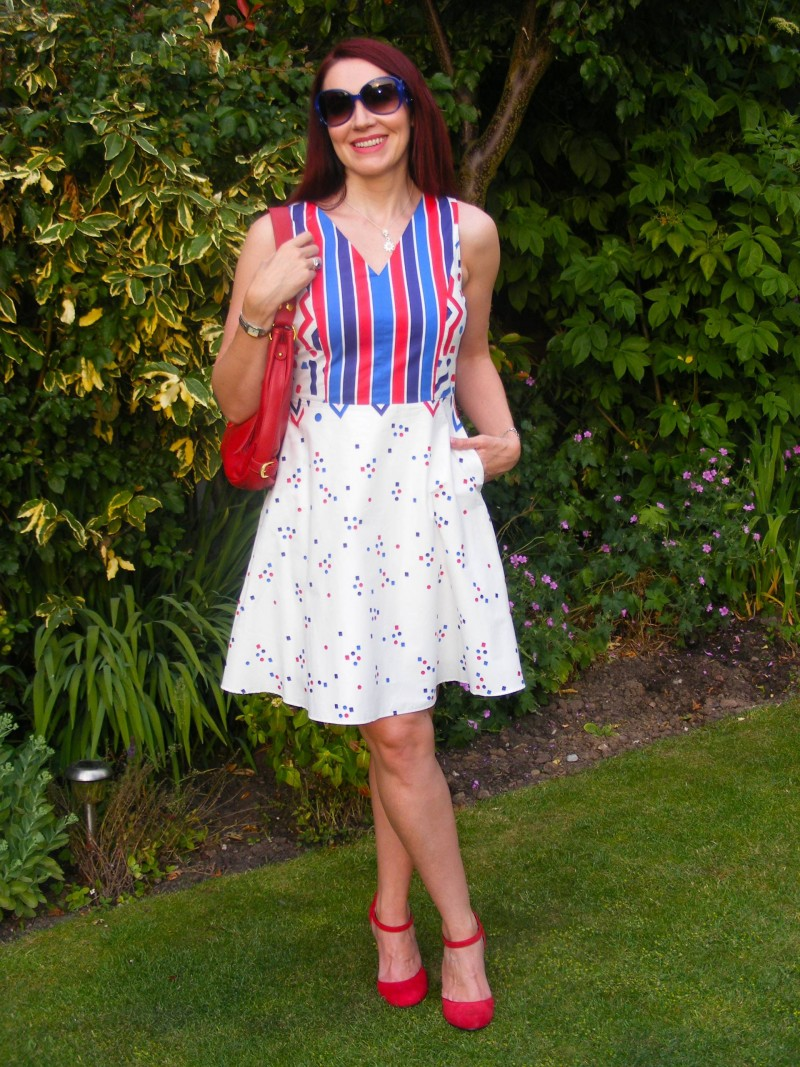 Fever red white and blue dress