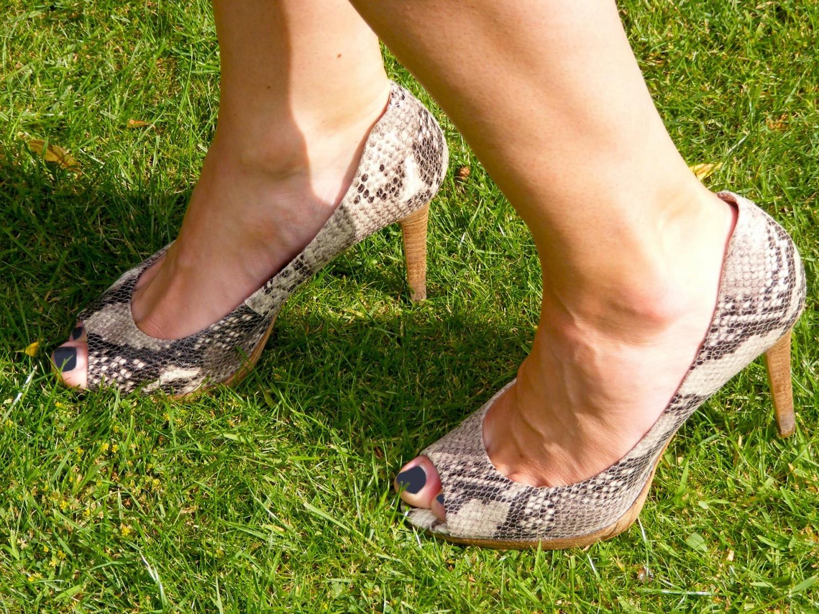 Marks and Spencer snakeskin shoes