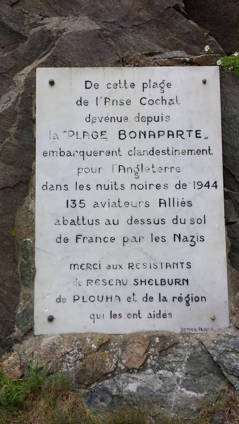 Bonaparte beach plaque