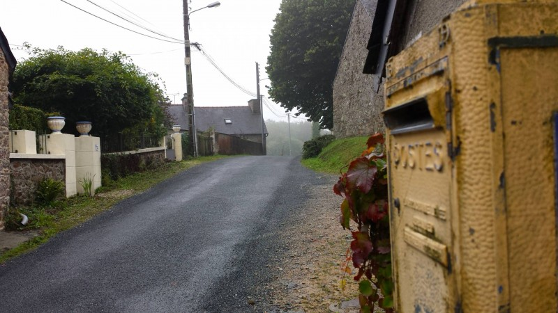French postbox in rural Britanny