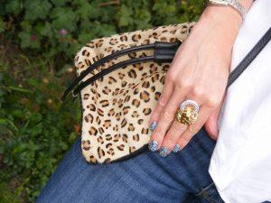 Kenneth Jay Lane lion ring leopard print Topshop bag