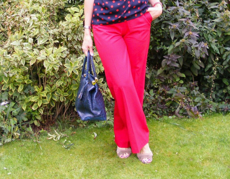 Red Oasis trousers