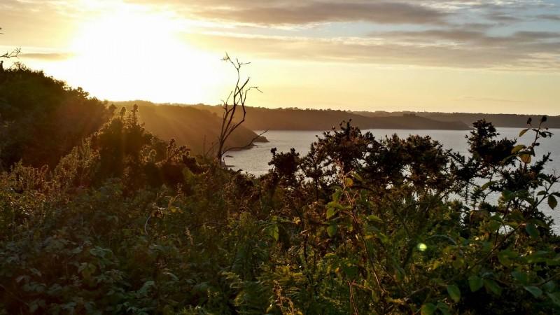 sunset on the Cote d'Armor coast