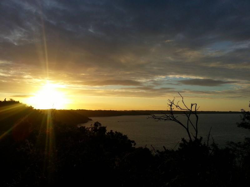 Sunset on the Britanny coastline