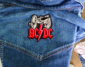 AC/DC iron on patch