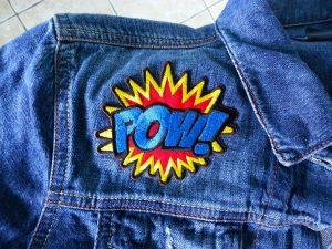 pop art iron on patch