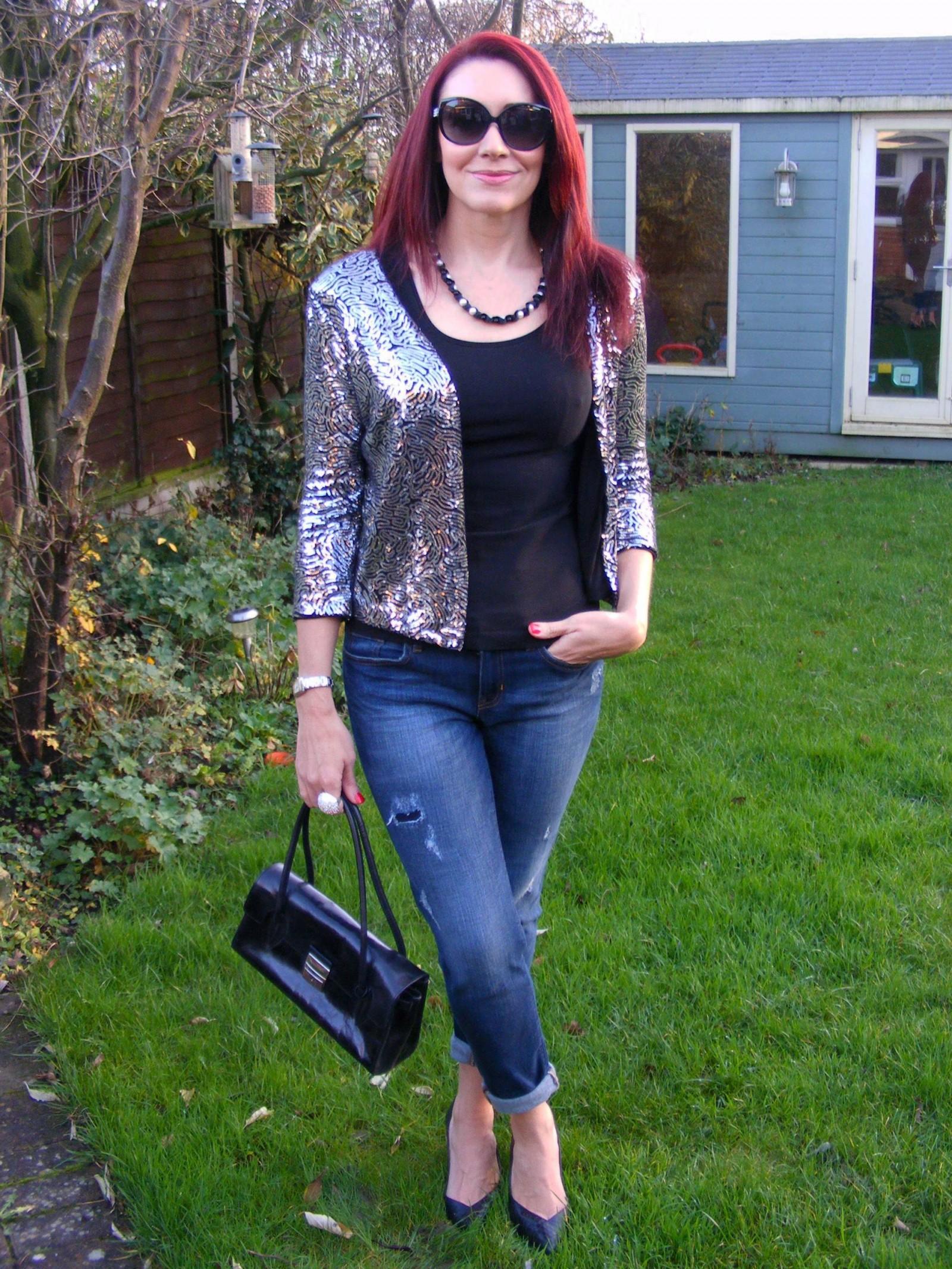 Festive sparkle Next sequin jacket