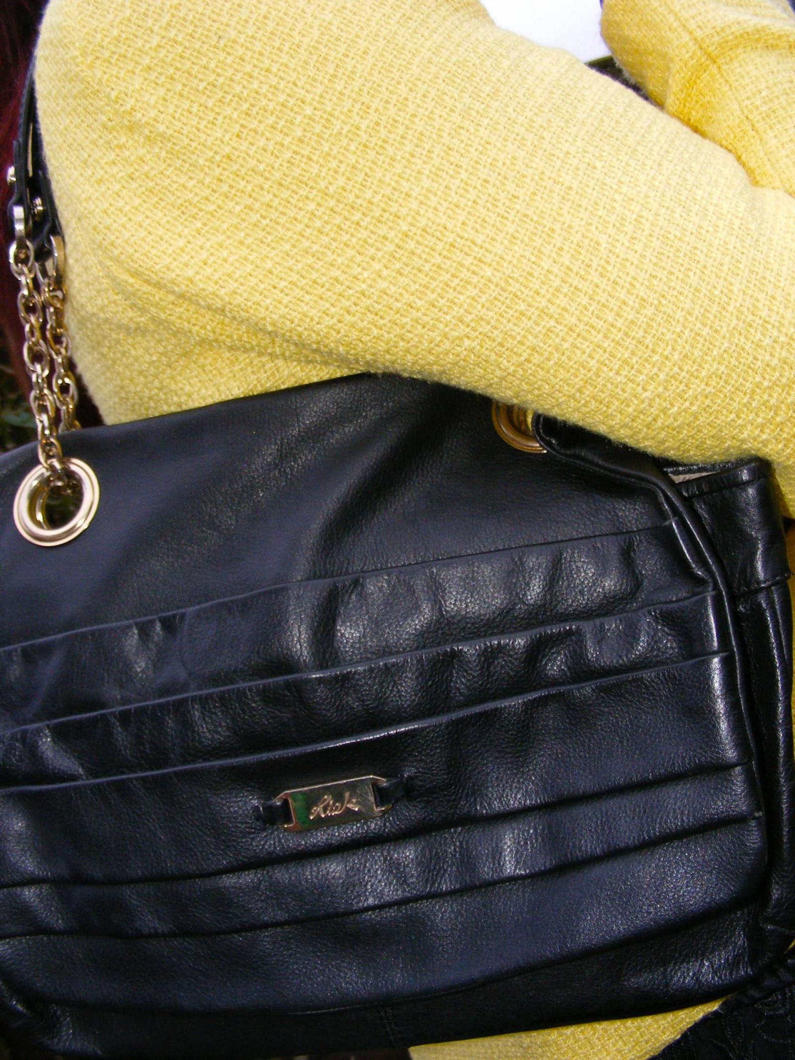 Black leather Ri2K shoulder bag