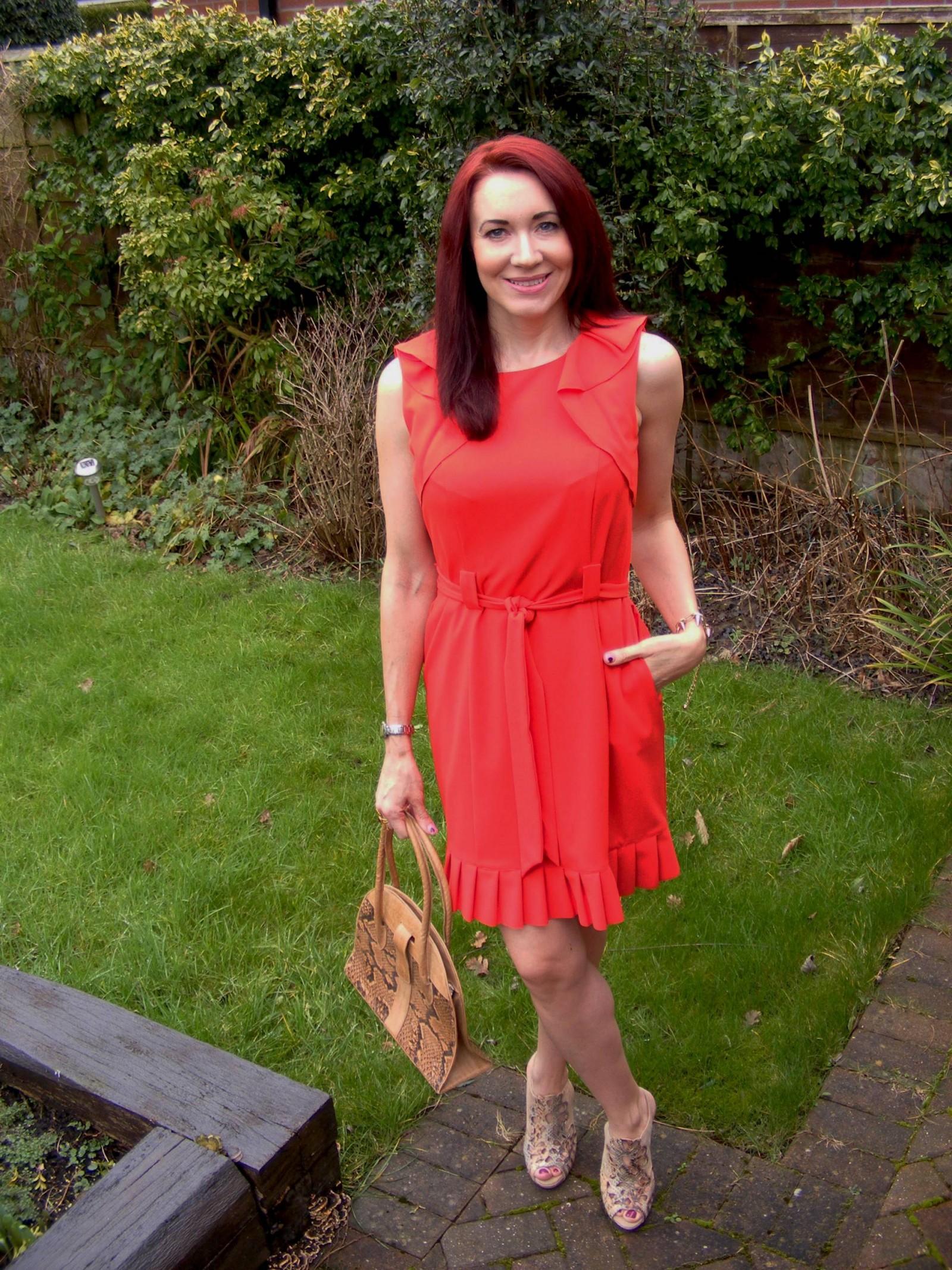 J by Jasper Conran red frill dress