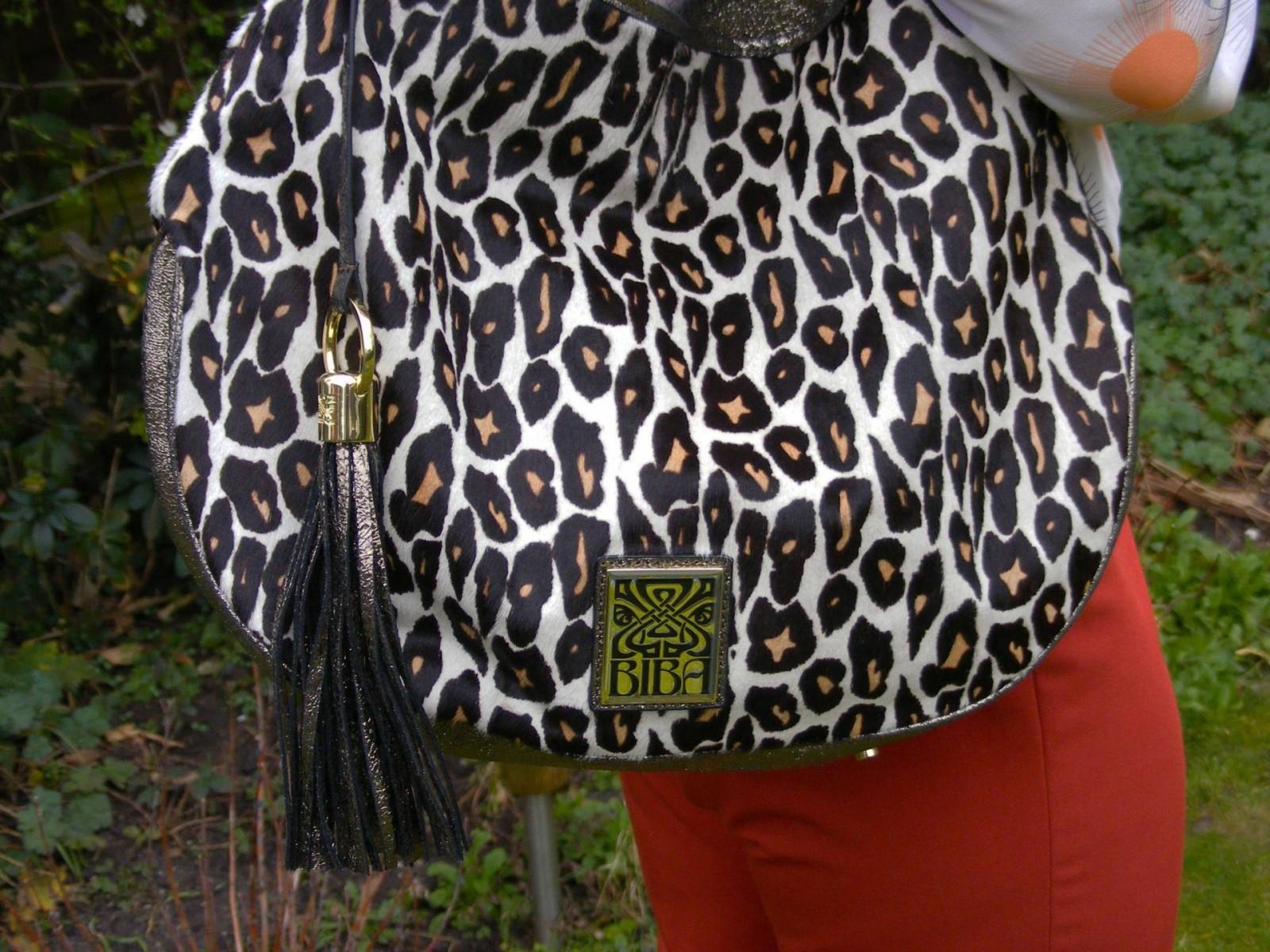 Biba leopard print handbag