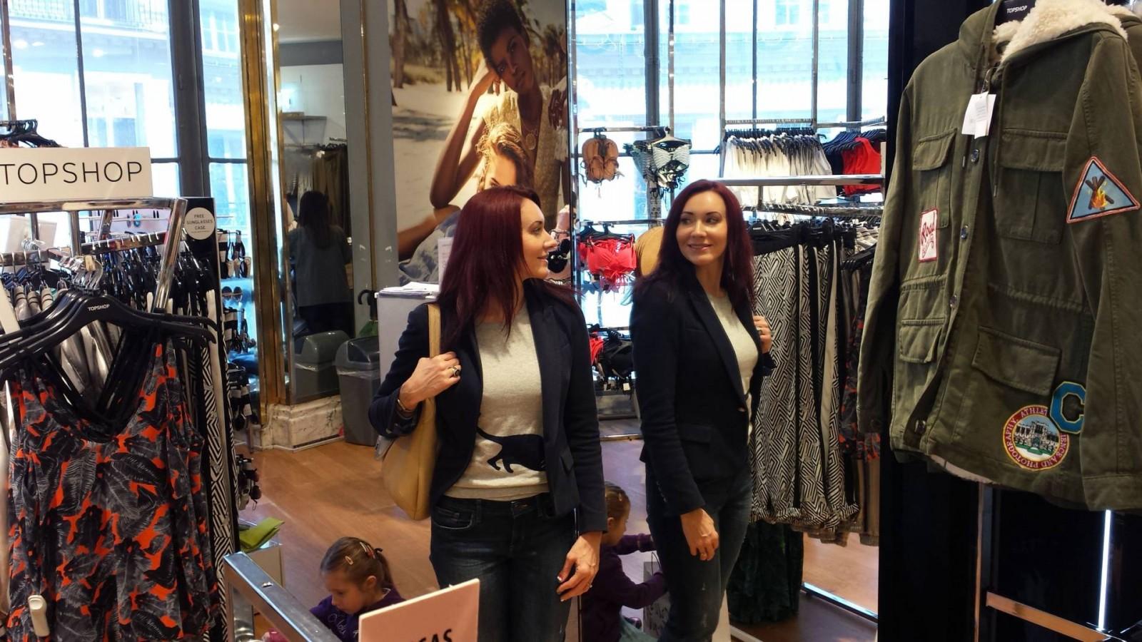 Galeries Lafayette, Topshop Zara jacket Gap jeans