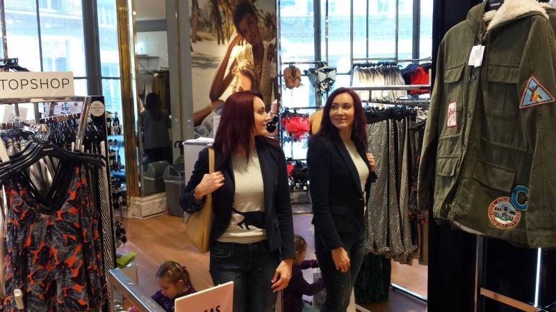 Galeries Lafayette Topshop Zara jacket Gap jeans