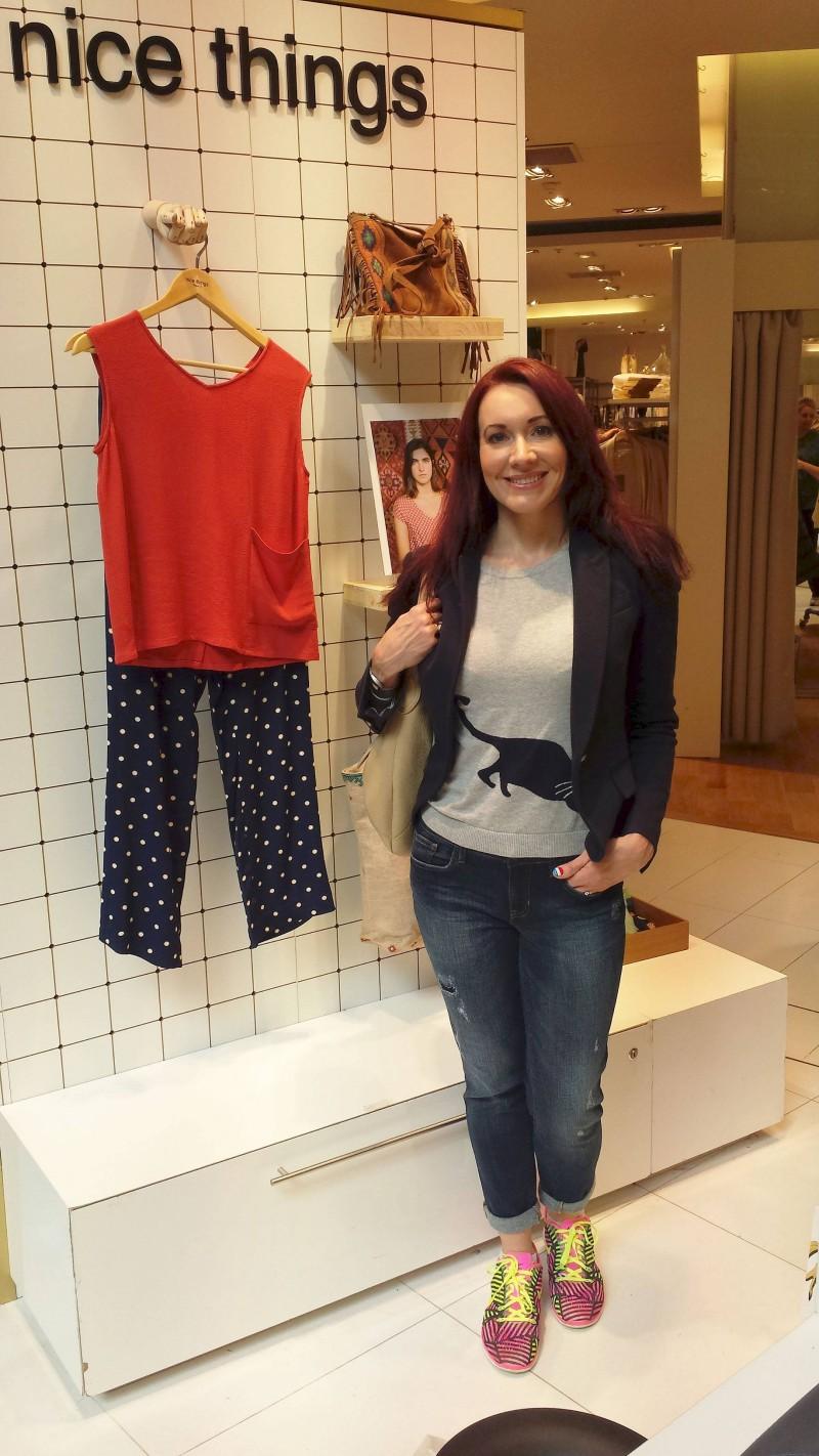 Galeries Lafayette Zara jacket Gap jeans