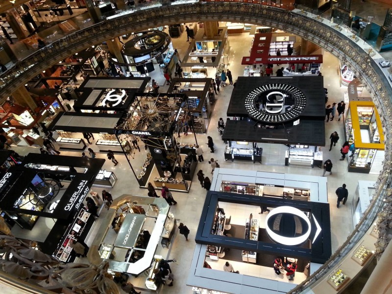 Galeries Lafayette beauty counters