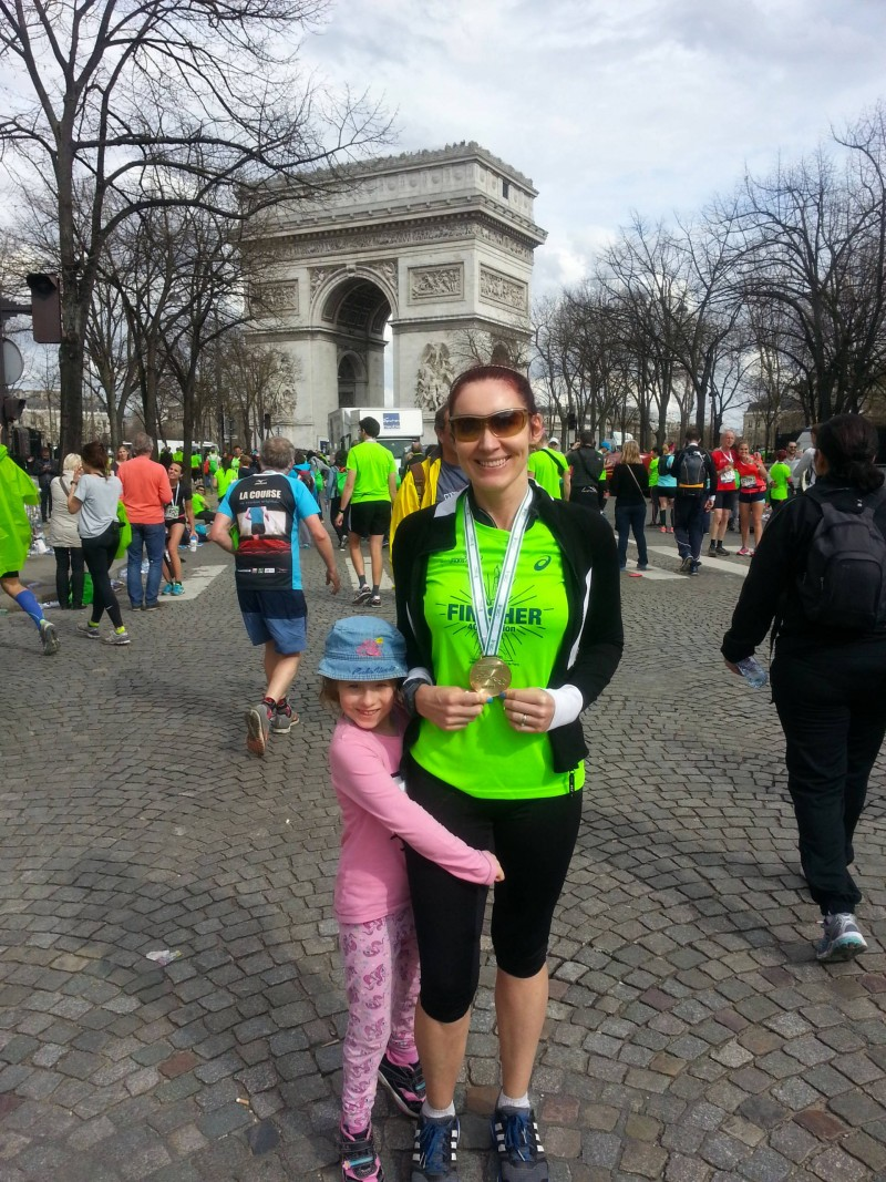 Marathon finish Arc de Triomphe