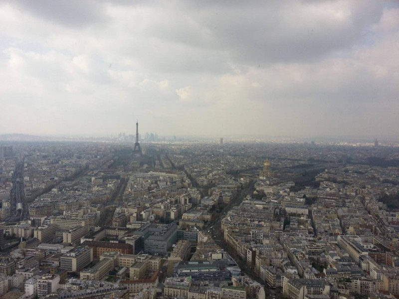 Paris skyline view from Montparnasse Tower