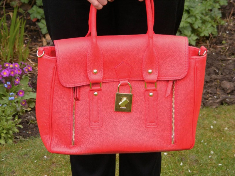 Red Mila Blu leather bag