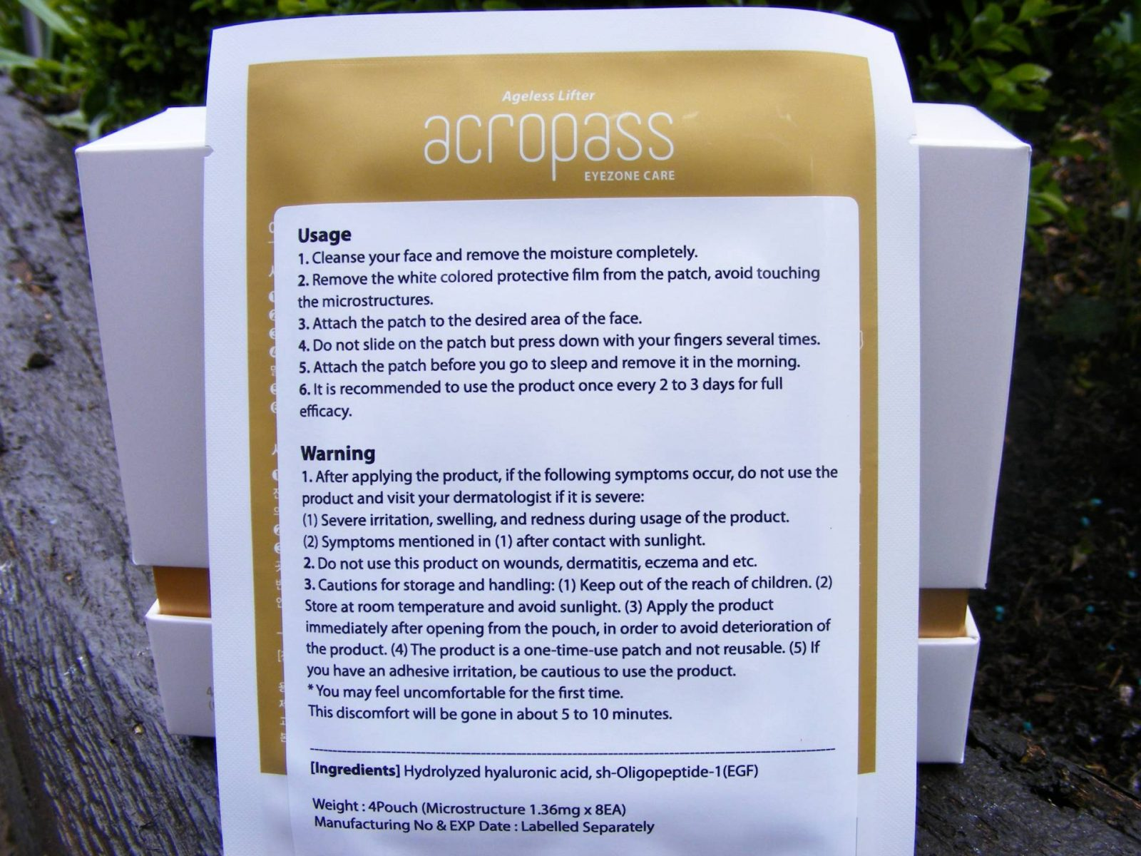 Acropass Ageless Lifter Eyezone Care instructions