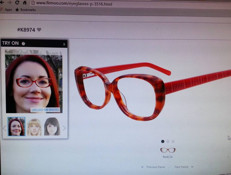 Firmoo glasses virtual try on