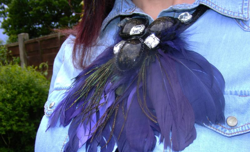 Kate Benjamin feather necklace