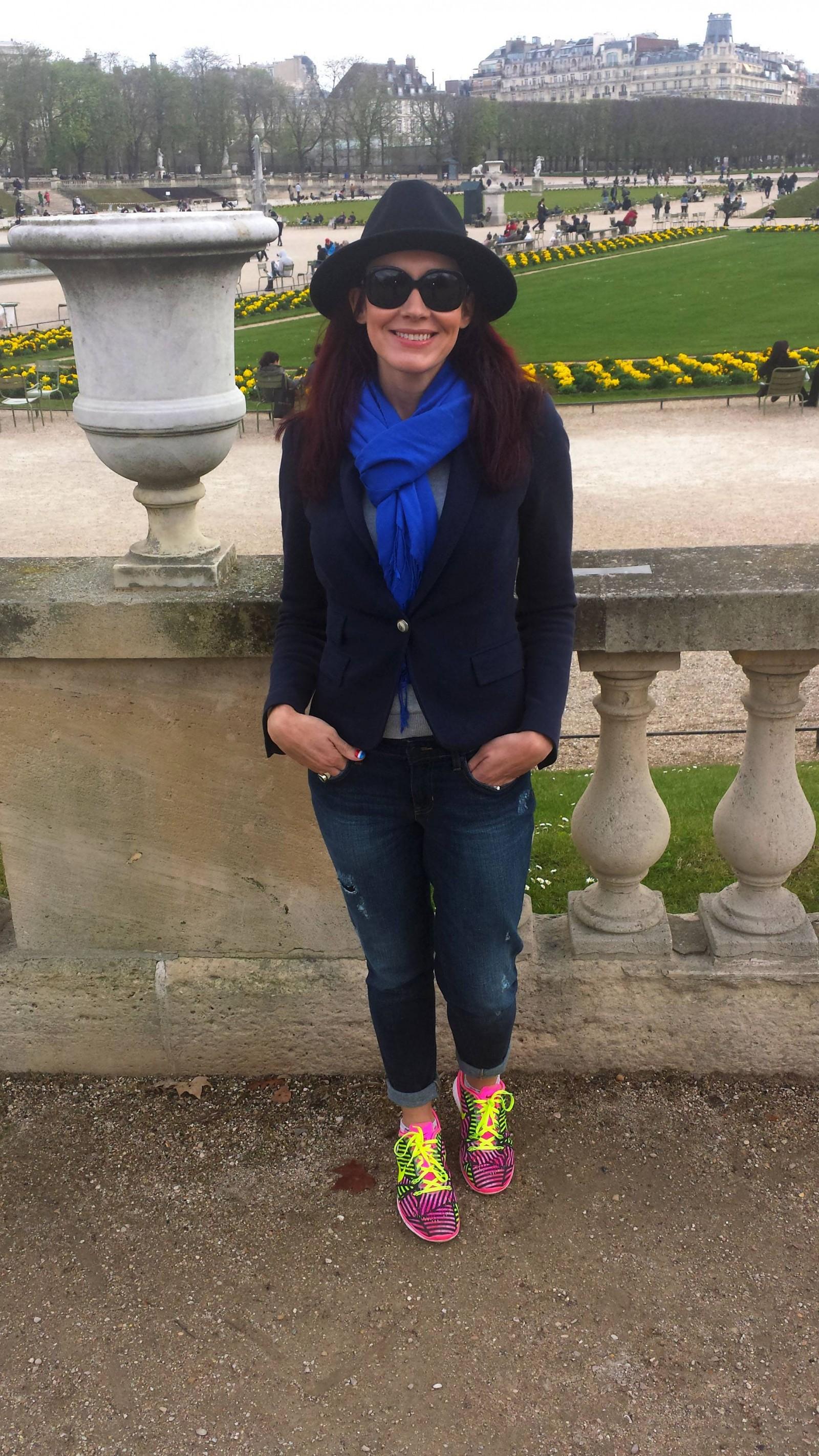Zara hat and jacket Gap jeans, Jardin du Luxembourg