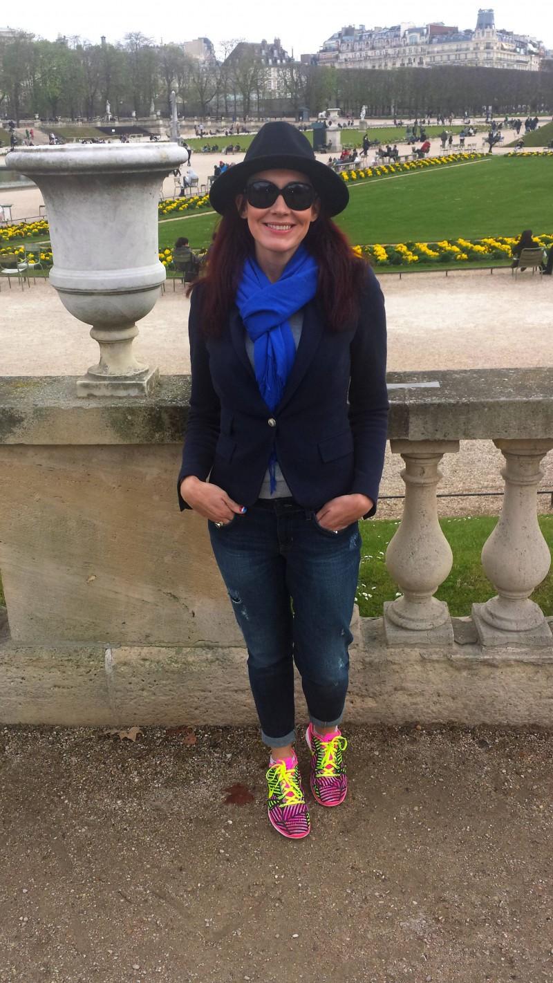 Zara hat and jacket Gap jeans Jardin du Luxembourg