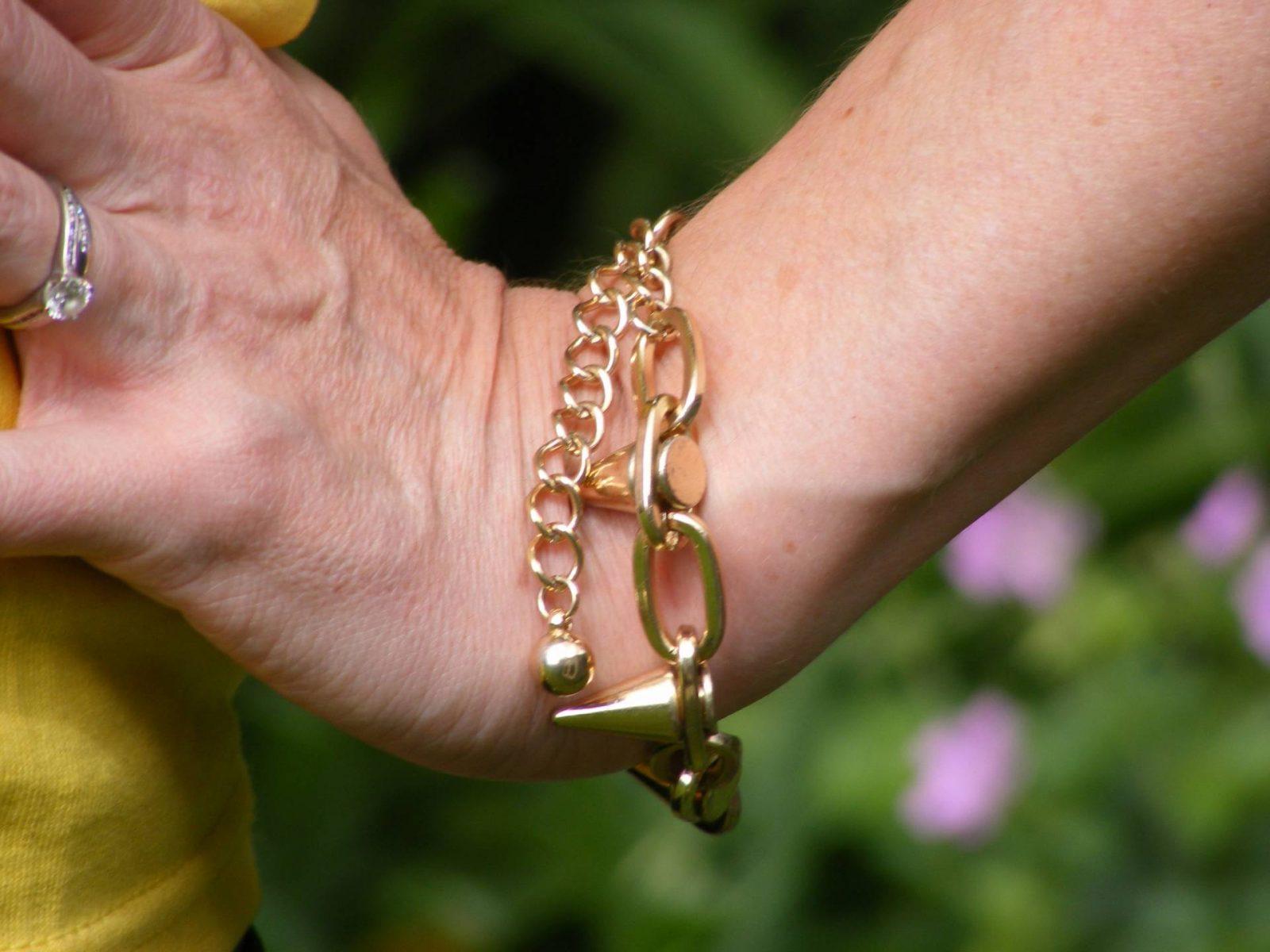 Asos goldtone spike bracelet