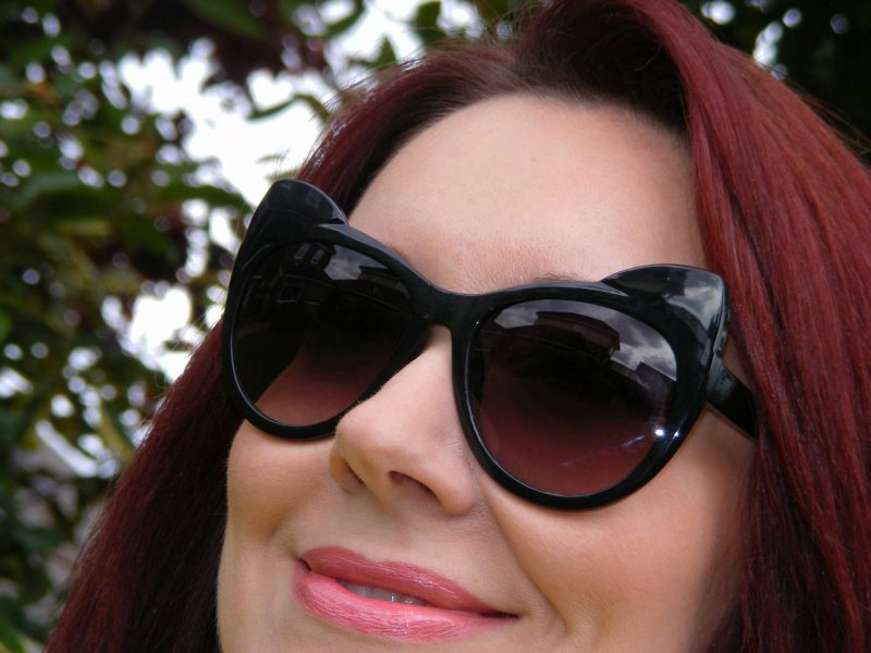 H&M black coachella cat sunglasses