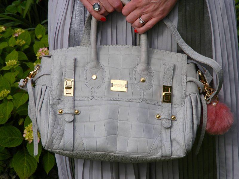 Modalu grey leather handbag