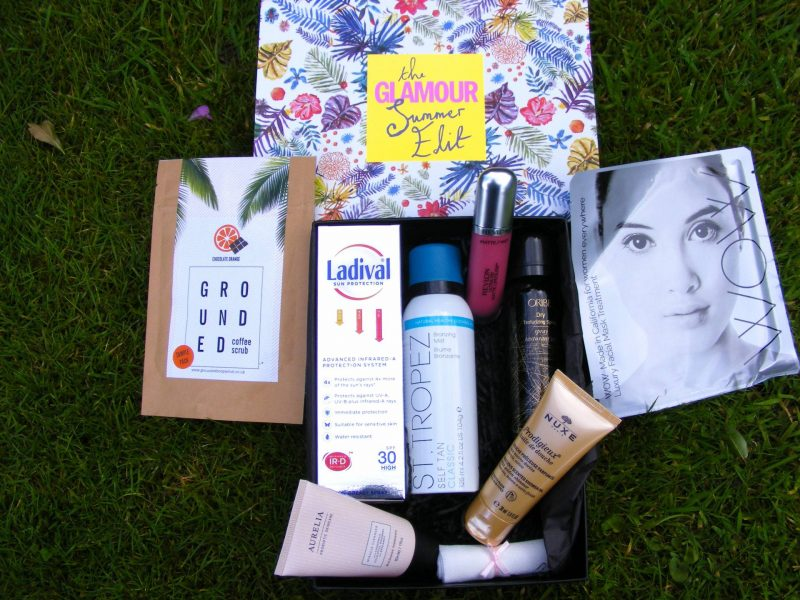 Glamour Summer Edit beauty box contents