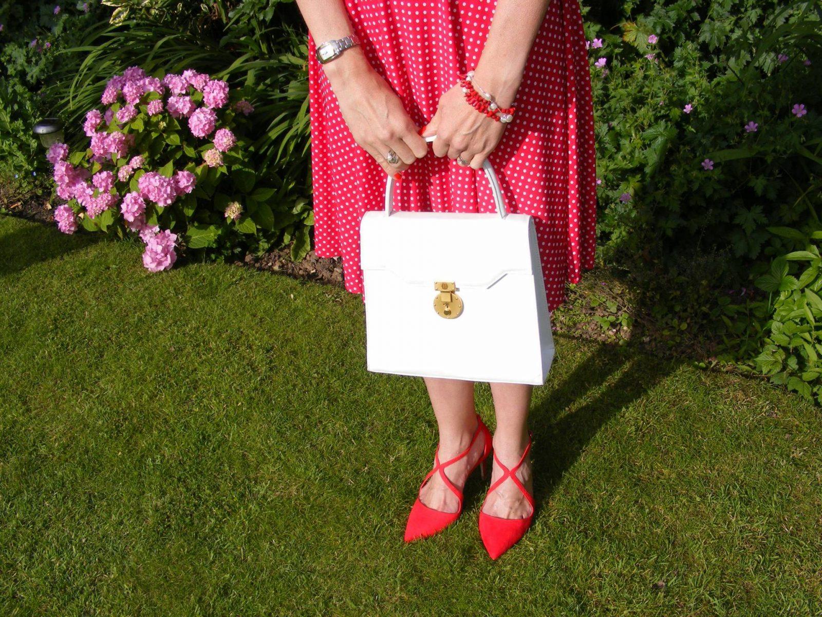 Karina Megan dress Miss KG red shoes