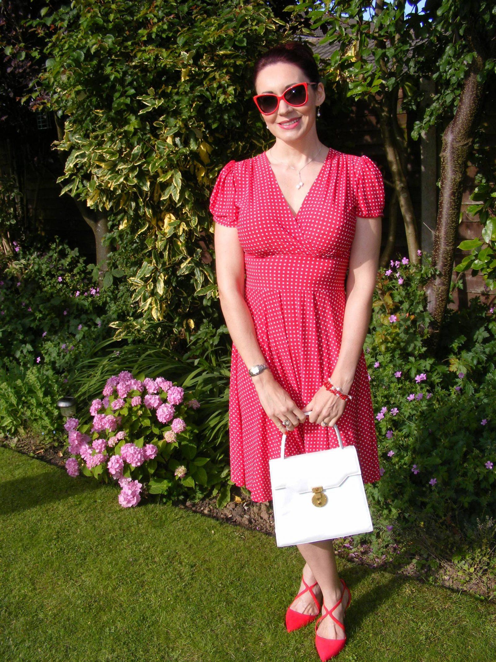 Karina Megan dress Miss KG red crossover shoes