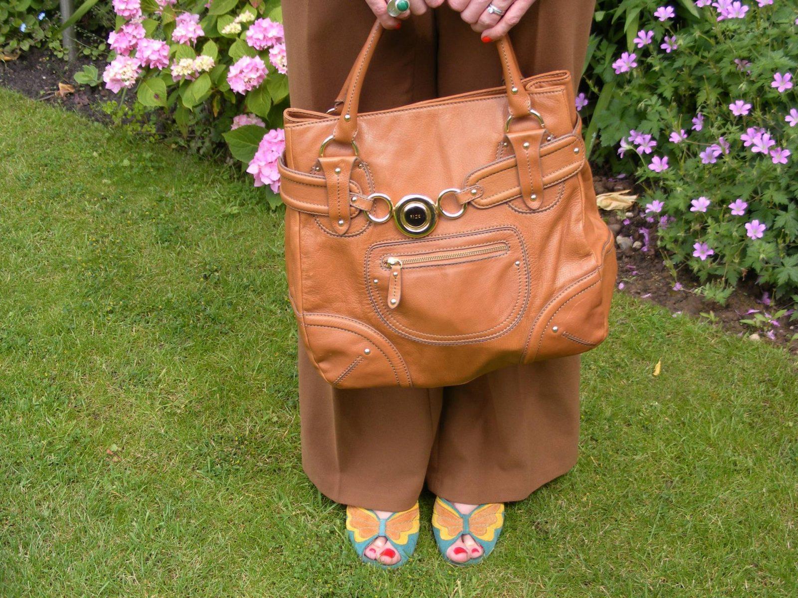 Tan Ri2k bag Asos brown trousers