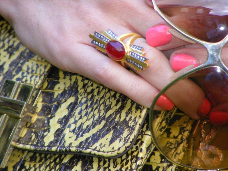 Kevia ring Angel Jackson snakeskin bag