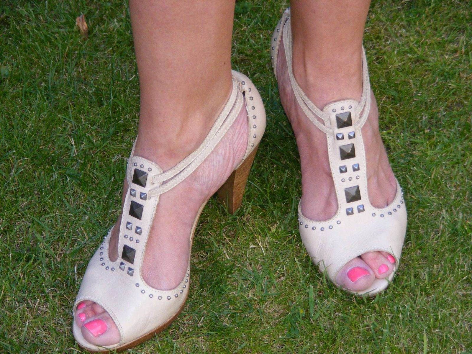 River Island nude sandals