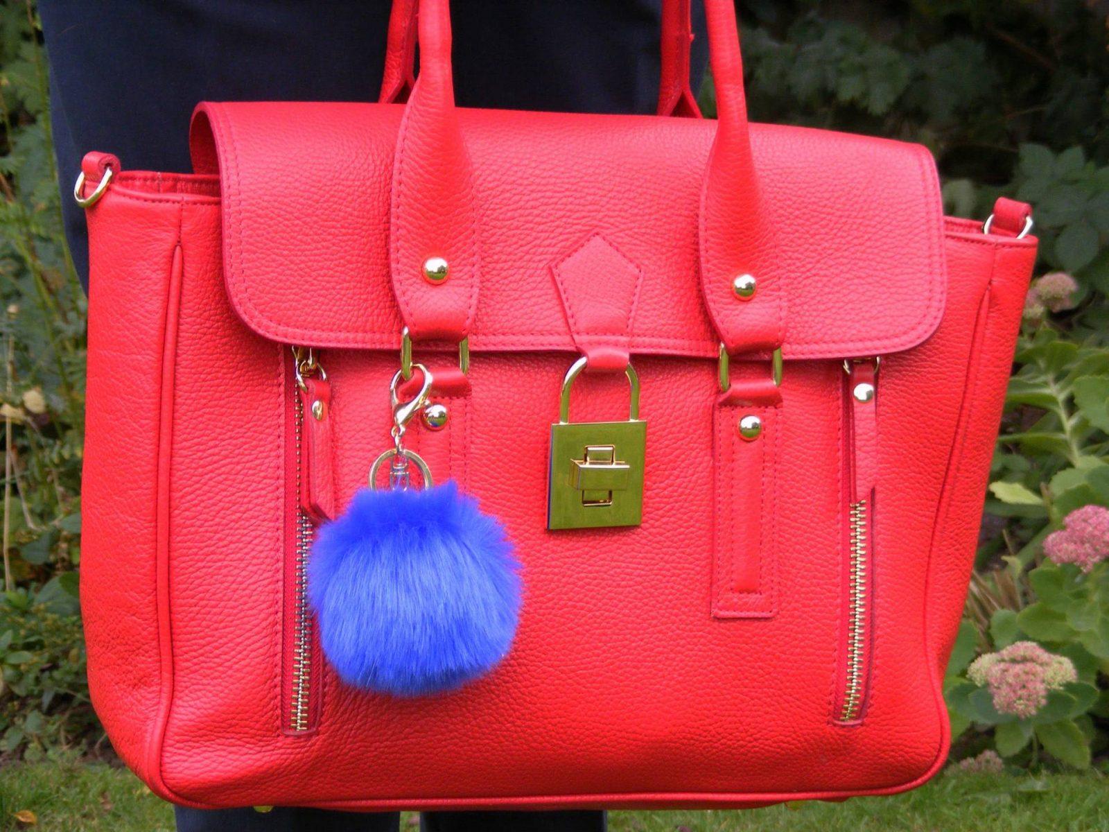 Mila Blu red leather bag