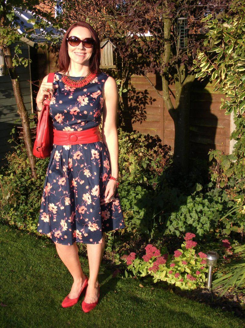 Bonmarché Floral Sateen Dress