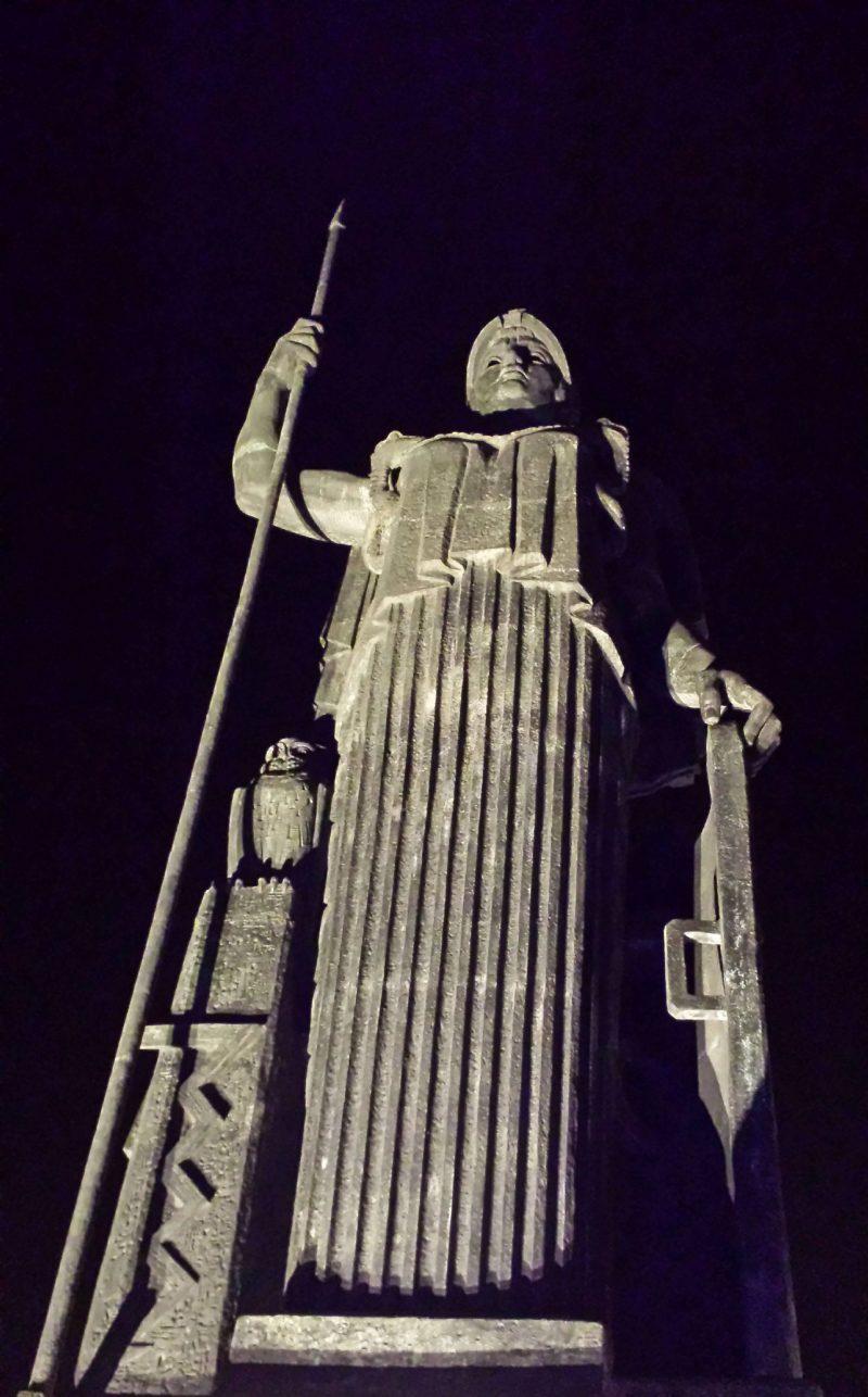 Athena statue Azotea Madrid