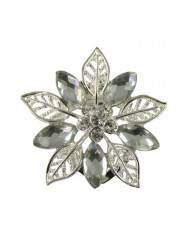 Eternal Collection Crystals Winters Tale Filigree Scarf Clip