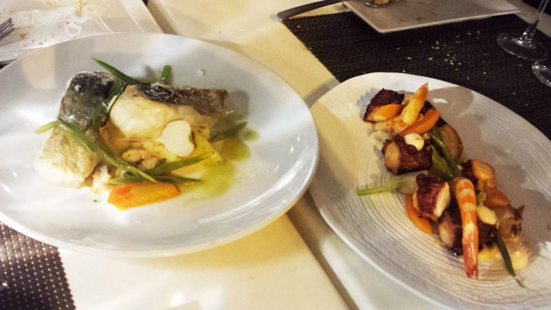 Fish and octopus dishes Madrid