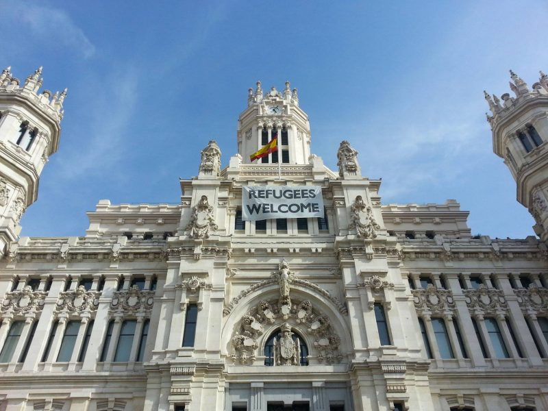Madrid refugees welcome