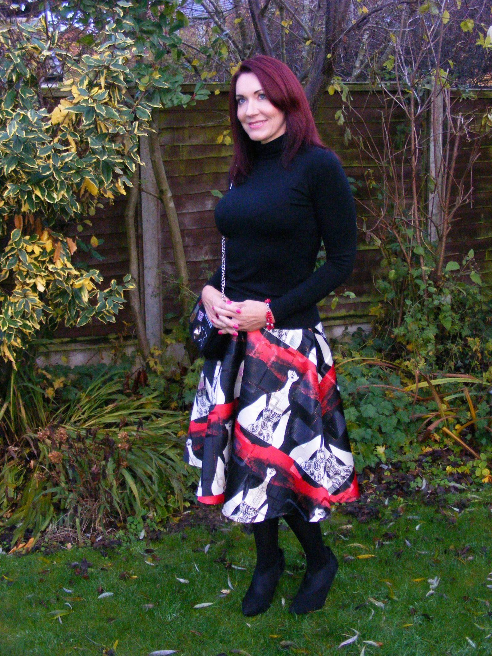 stylewe-print-skirt