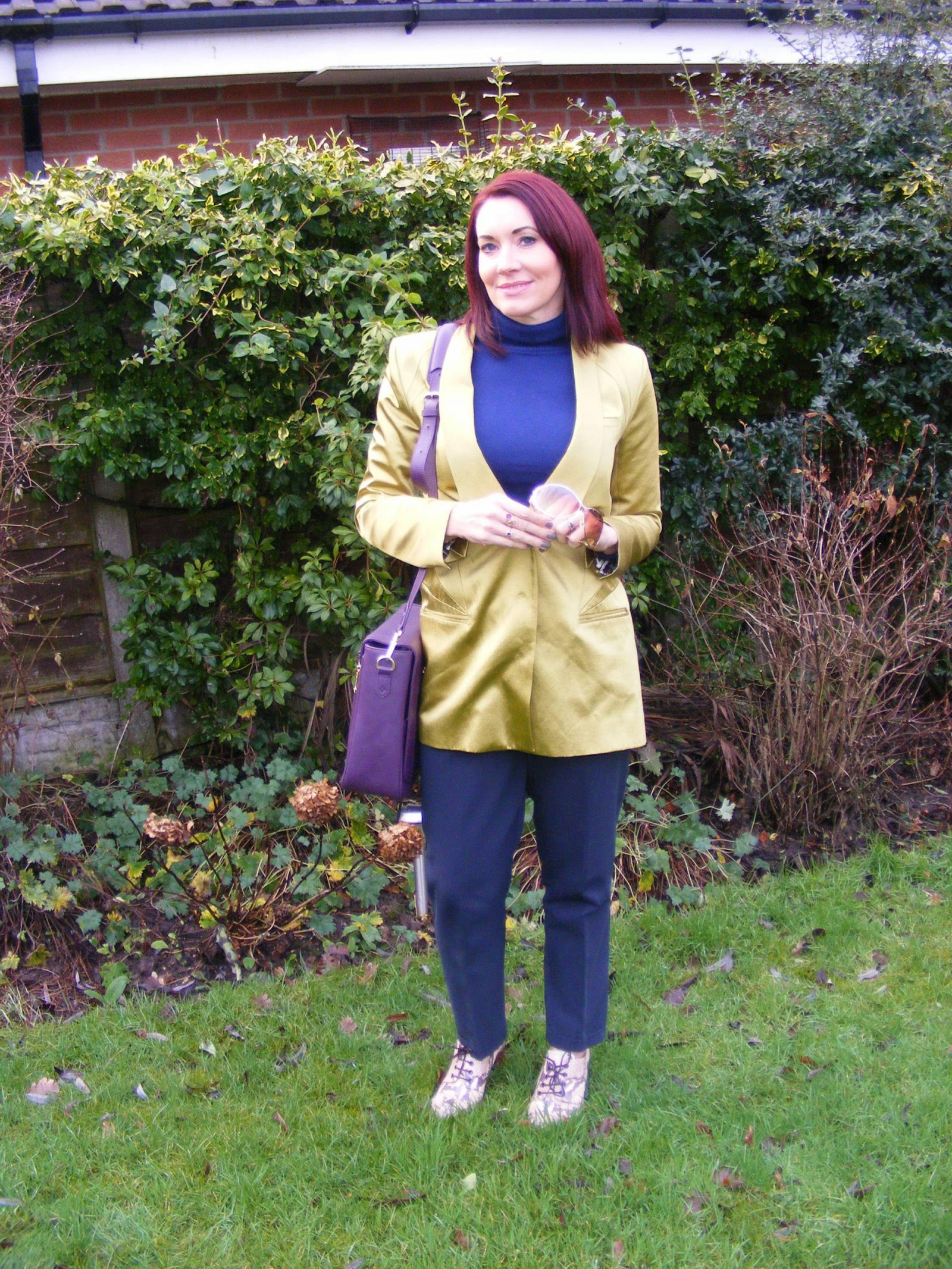 Navy, Green, Aubergine Model KT Work Bag + Style With a Smile Link Up