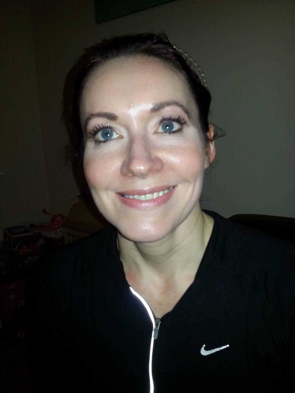 post run selfie Tarteist mascara