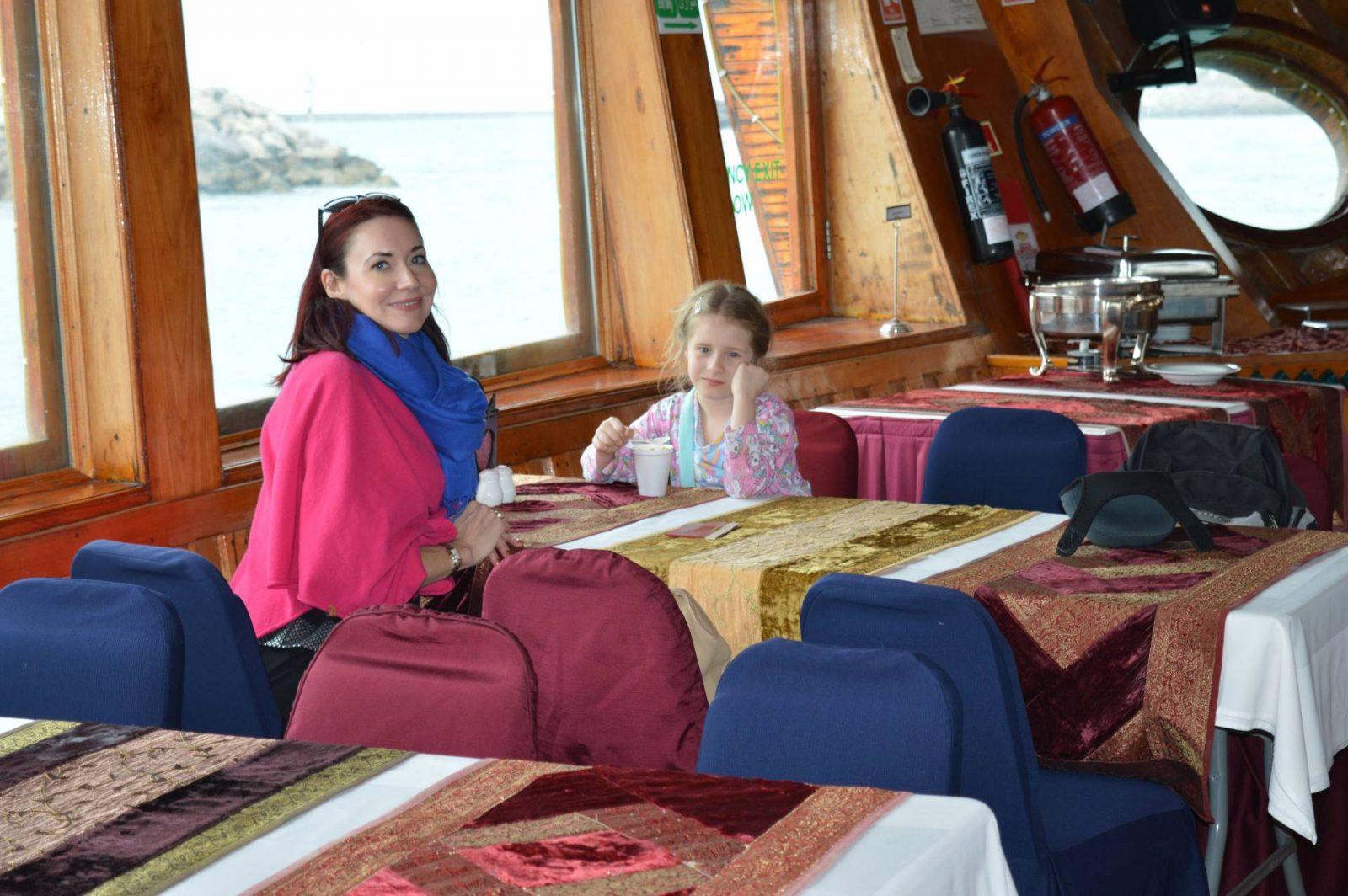 Abu Dhabi Dhow cruise Hope-poncho