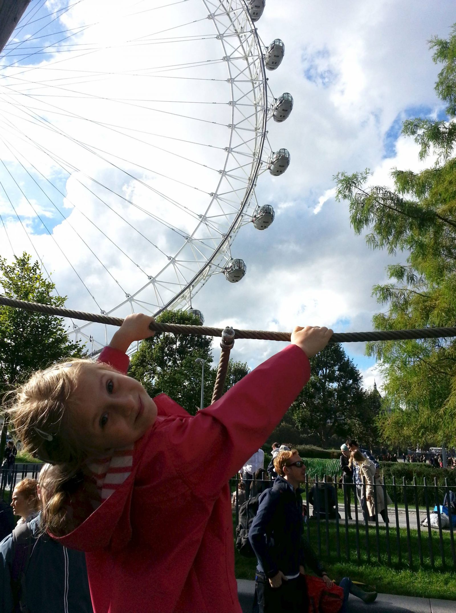 Weekend in London playground London Eye