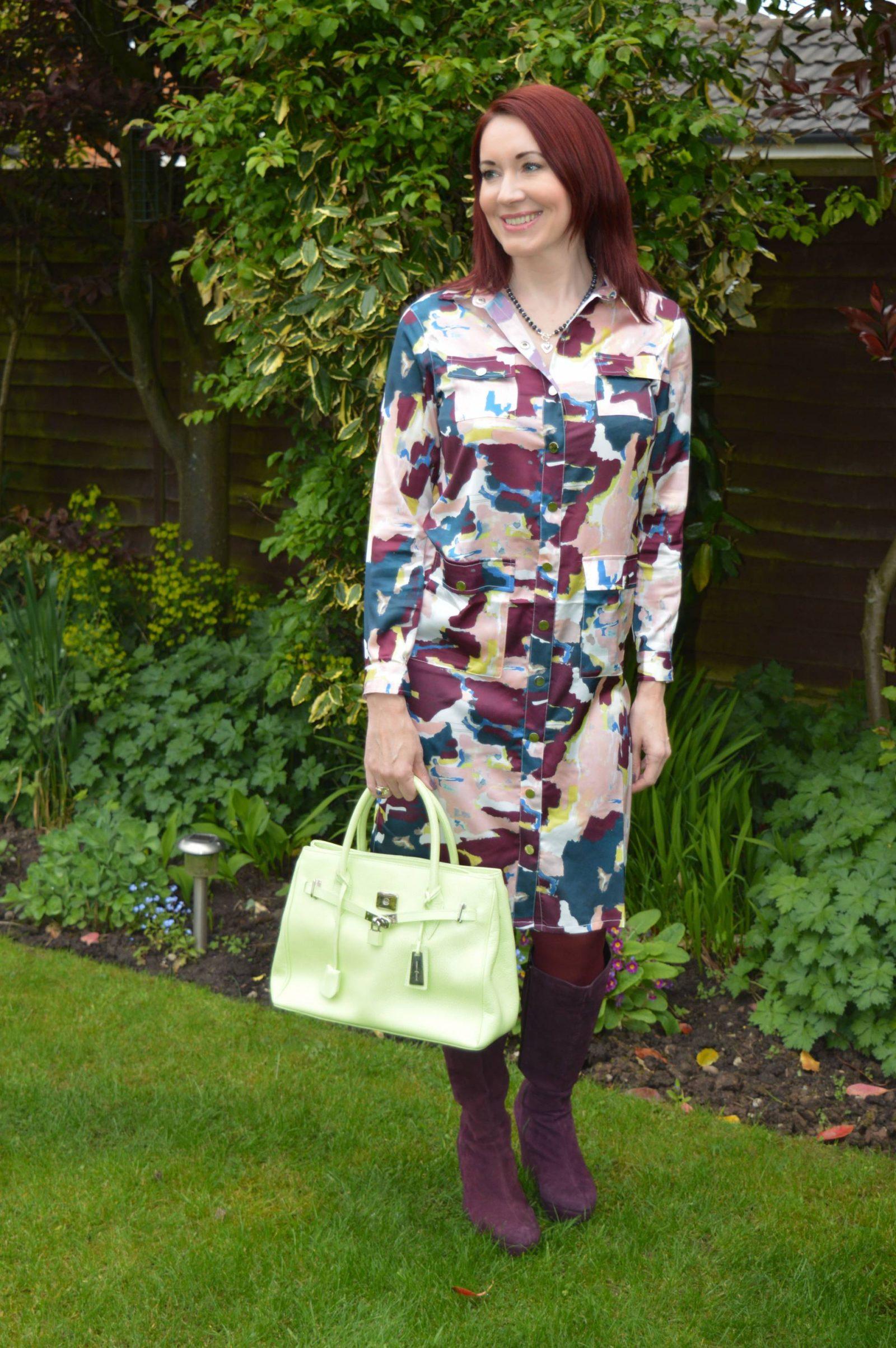finery-shirt-dress-green-jasper-conran-leather-bag
