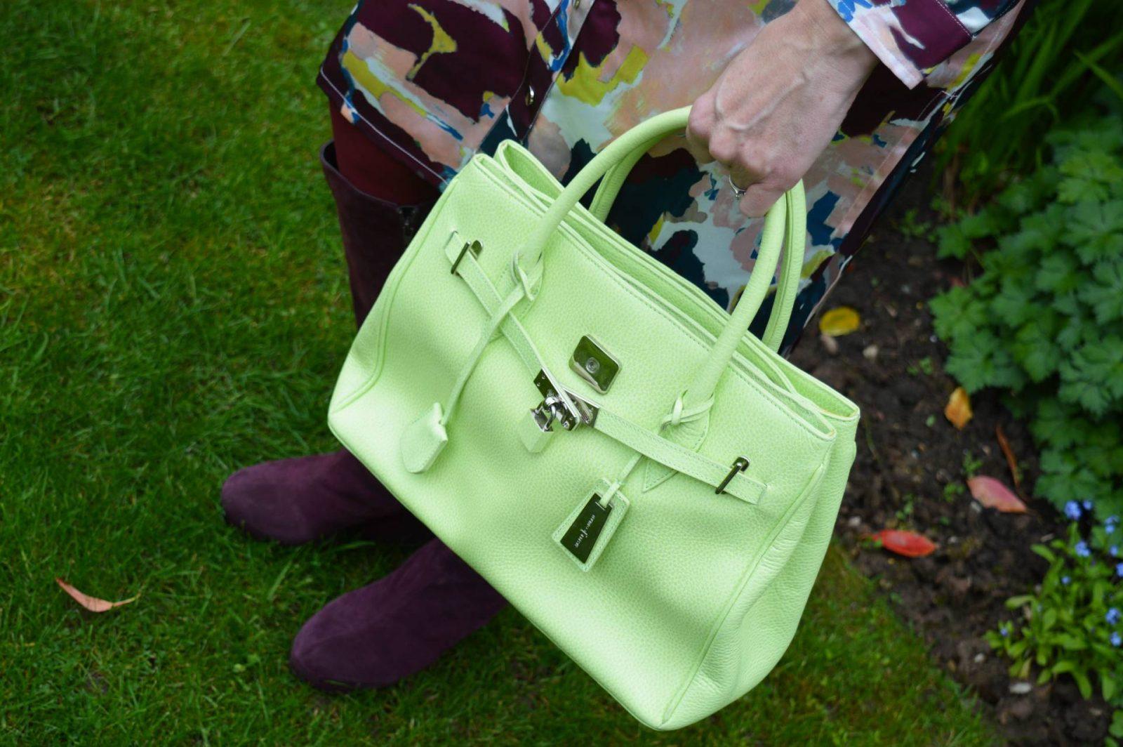 jasper-conran-lime-green-bag Finery Shirt Dress