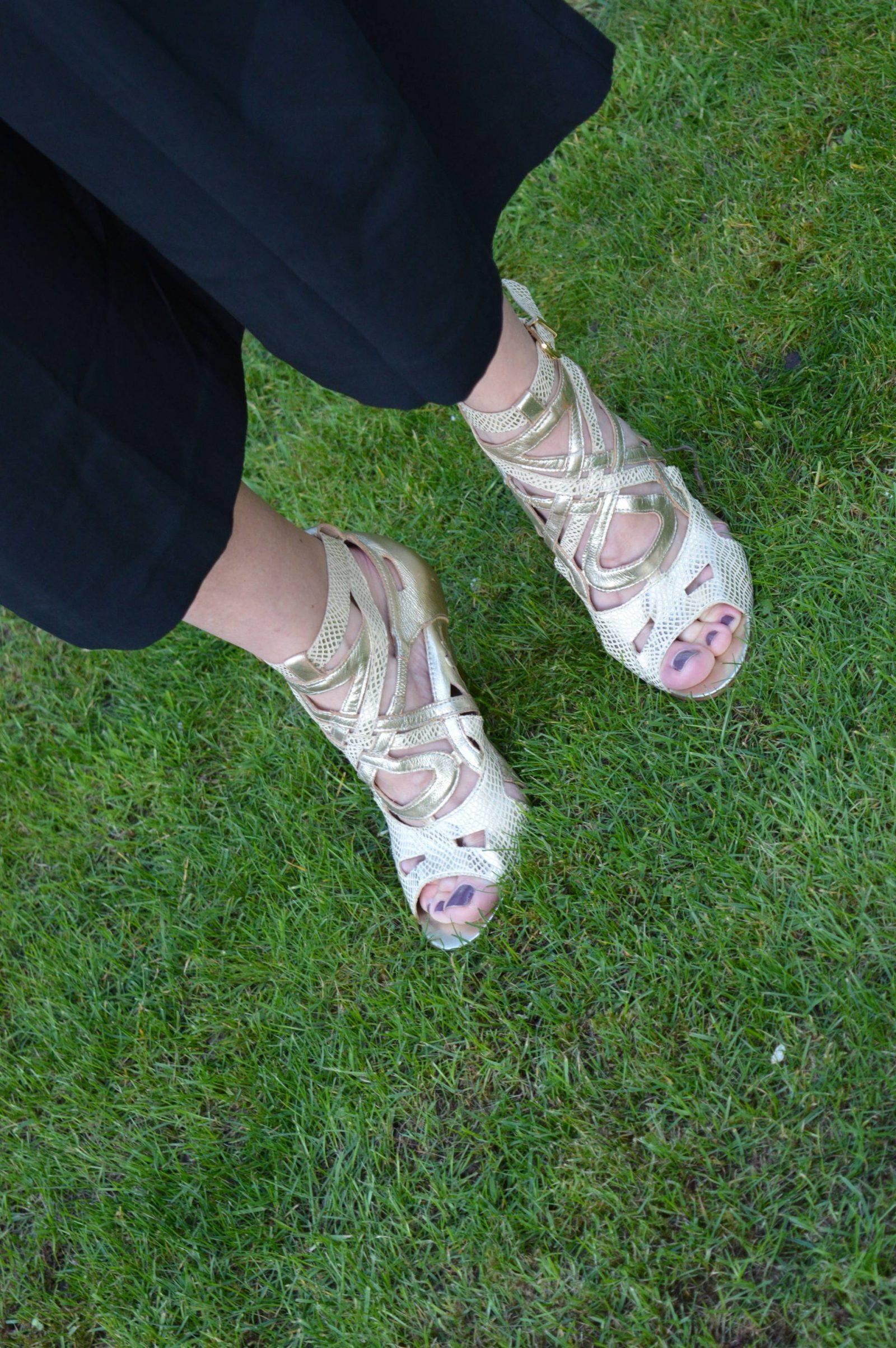 Gold Biba sandals