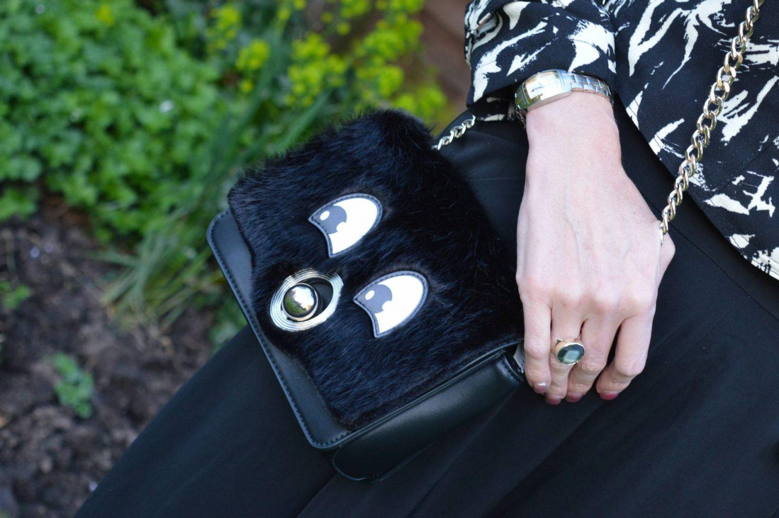 Zara faux fur bag